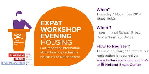 Expat Workshop Evening: Buying a House in Breda