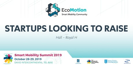 EcoMotion Session - Startups Looking to Raise tickets
