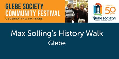 Max Solling History Walk of Glebe tickets