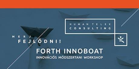 FORTH INNOBOAT - Innovációs módszertani workshop tickets