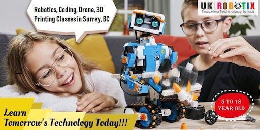 Dual Tech Robotics Camp for Kids - Lego Robotics , Mbot Robotics-UK Robotix