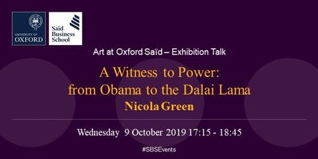Art at Oxford Saïd - Exhibition talk: Nicola Green tickets