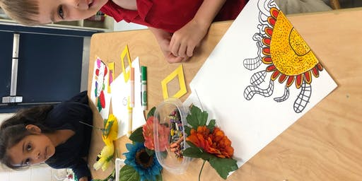"YOUTH: O'Keeffe Inspired Flowers, ""Zoomin' In On Nature"" with Mrs. Debi West"