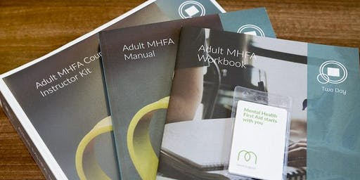 MHFA 2 day Adult Course Thurs 31st Oct & Fri 1st Nov 2019