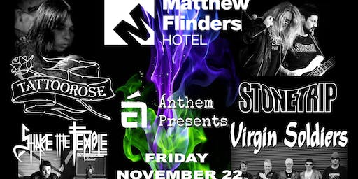 TATTOOROSE, STONETRIP, VIRGIN SOLDIERS AND SHAKE THE TEMPLE LIVE!!