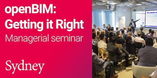 openBIM: Getting it Right Managerial seminar (Sydney)