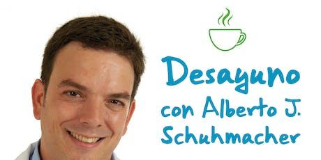 Desayuno con el investigador Alberto Jiménez Schuhmacher entradas