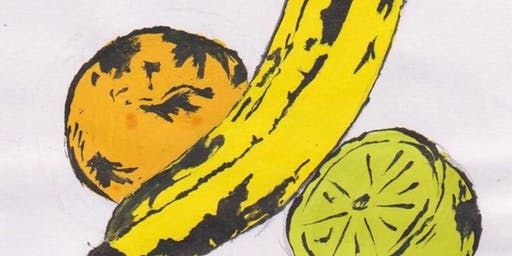 "YOUTH: Warhol Inspired Pop Art, ""Fruit Drawing Magic"" with Mrs. Debi West"
