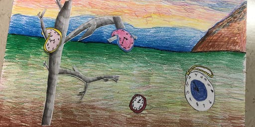 "YOUTH: Dali Inspired Landscapes, ""Holiday Scenes"" with Mrs. Debi West"
