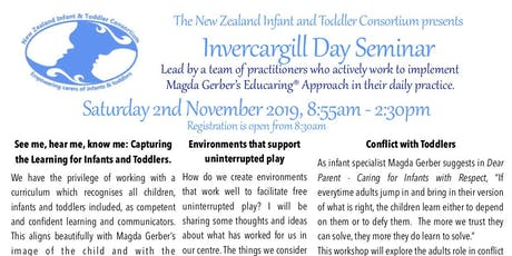 NZITC - New Zealand Infant and Toddler Consortium Invercargill Day Seminar tickets