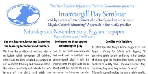 NZITC - New Zealand Infant and Toddler Consortium Invercargill Day Seminar