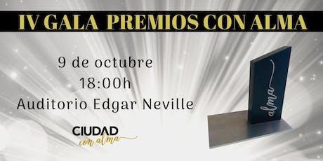 IV Gala Premios con Alma entradas