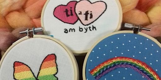 Cwrs: Cyflwyniad i Frodio Llaw | Course: Intro to Hand Embroidery
