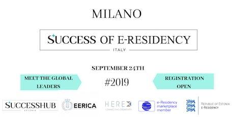 SUCCESS OF E-RESIDENCY ITALY biglietti