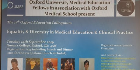 Equality and Diversity in Medical Education and Clinical Practice tickets