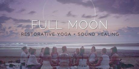 Full Moon : Restorative Yin Yoga + Sound Healing (October) tickets