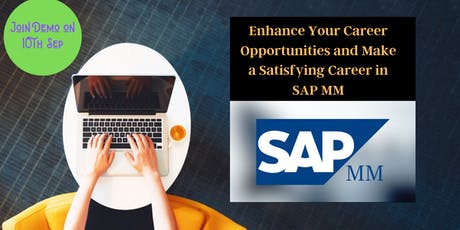 SAP MM Training and Certification course with live projects Free Demo tickets