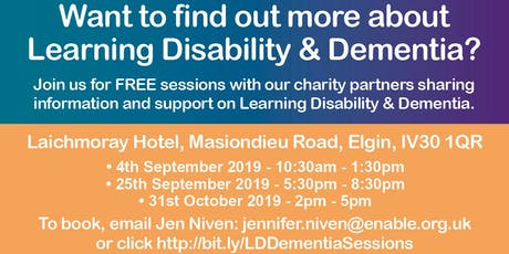 Learning Disability and Dementia Awareness Sessions tickets