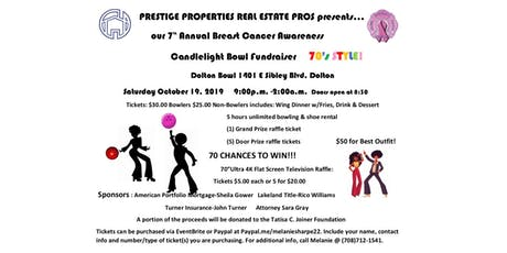 PPREP 7th Annual Breast Cancer Awareness Candlelight Bowl Fundraiser tickets