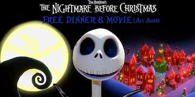 Nightmare Before Xmas Free Dinner & Movie (Non Profit Benefit)