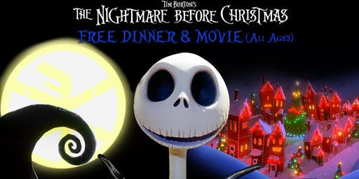 Nightmare Before Xmas Free Dinner & Movie (Non Profit Benefit)