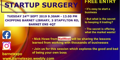 Natwest Bank Startup Surgery in Barnet tickets