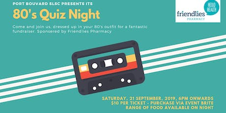 80's Quiz Night tickets