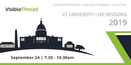 VT University Live Sessions - September 24 tickets