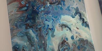 Paint Pour Workshop - Three Canvas Projects