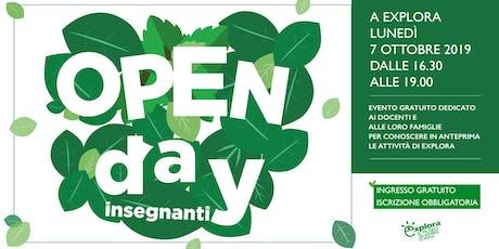 Open Day insegnanti 2019 @Explora biglietti