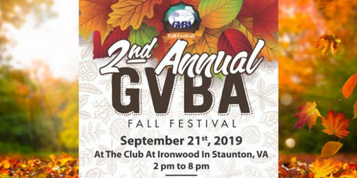 2nd Annual GVBA Fall Festival