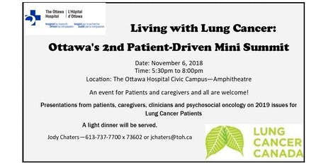 Living with Lung Cancer - Ottawa's 2nd Patient-Driven Mini Summit tickets