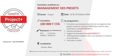 MANAGEMENT DES PROJETS : 2 jours de Formation accélérée (Préparation au CompTIA Project+ , standard PMBOK) billets