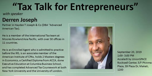 Tax Talk for Entrepreneurs