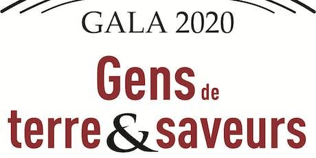 En route vers le Gala Gens de Terre & Saveurs 2020 billets
