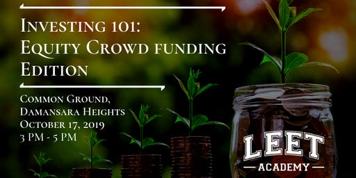 Investing 101: Equitycrowd Funding Edition