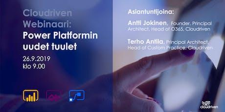 Cloudriven Webinaari: Power Platformin uudet tuulet tickets