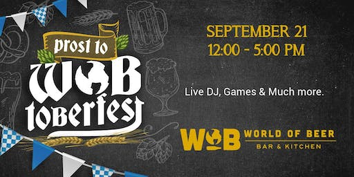 WOBtoberfest - Oktoberfest at World of Beer Dublin!