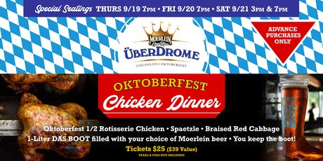 Überdrome Chicken Dinner tickets
