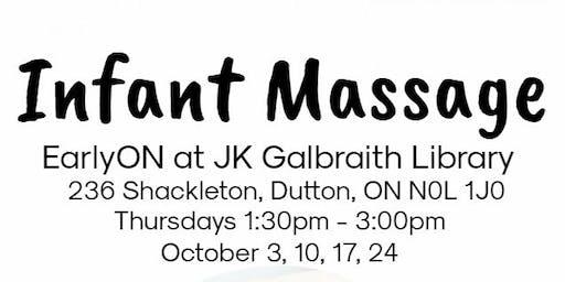 Infant Massage - Dutton (October 3, 10, 17, 24)
