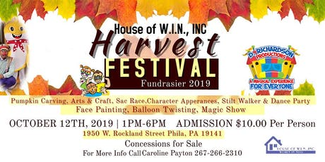 House of W.I.N., INC Harvest Festival Fundraiser tickets