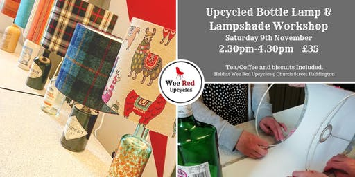 Upcycled Bottle Lamp and Lampshade Workshop - Sat 9th Nov 2.30-4.30pm