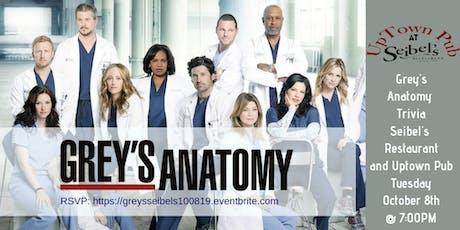 Grey's Anatomy Trivia at Seibel's Restaurant and UpTown Pub tickets