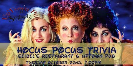 Hocus Pocus Trivia at Seibel's Restaurant and UpTown Pub tickets