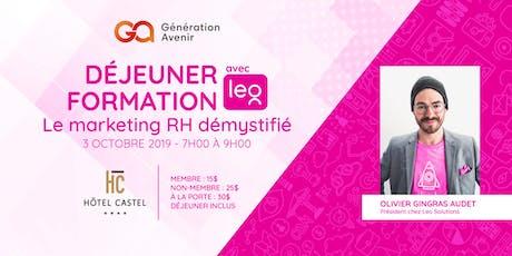 Déjeuner formation Génération Avenir - Le marketing RH démystifié billets