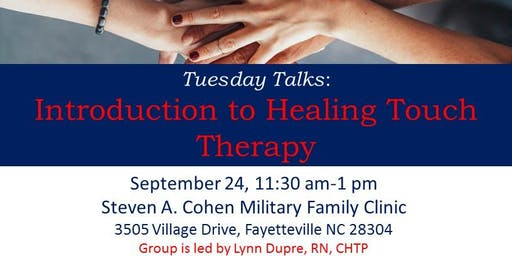 Tuesday Talks: Introduction to Healing Touch Therapy