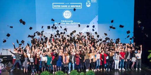 Cérémonie remise des diplômes 2019 - Lycée Notre Dame le Ménimur