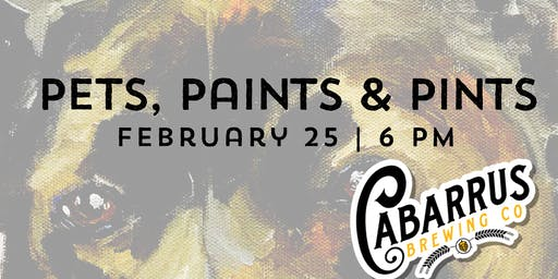 Pets, Paints & Pints at Cabarrus Brewing