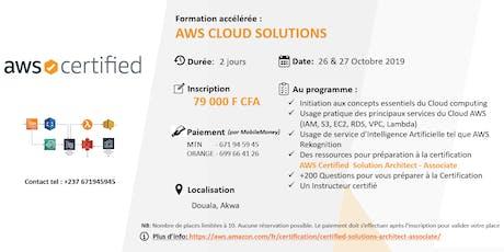 AWS CLOUD SOLUTIONS TRAINING : 2 jours de Formation accélérée (Préparation à la certification AWS Cloud Practitioner) billets