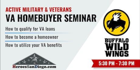 San Diego Military and Veterans VA Homebuyer Seminar / Workshop tickets